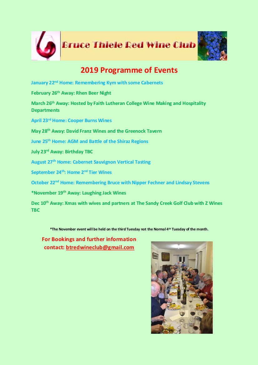This Year's Programme of Events